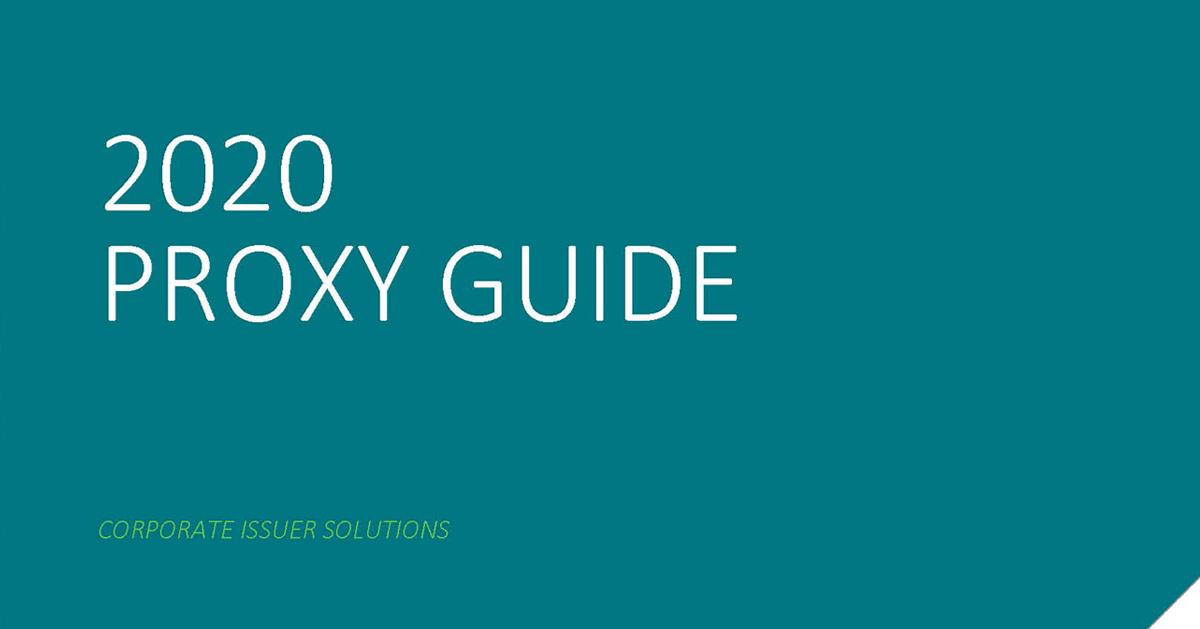 2020 Annual Proxy Guide