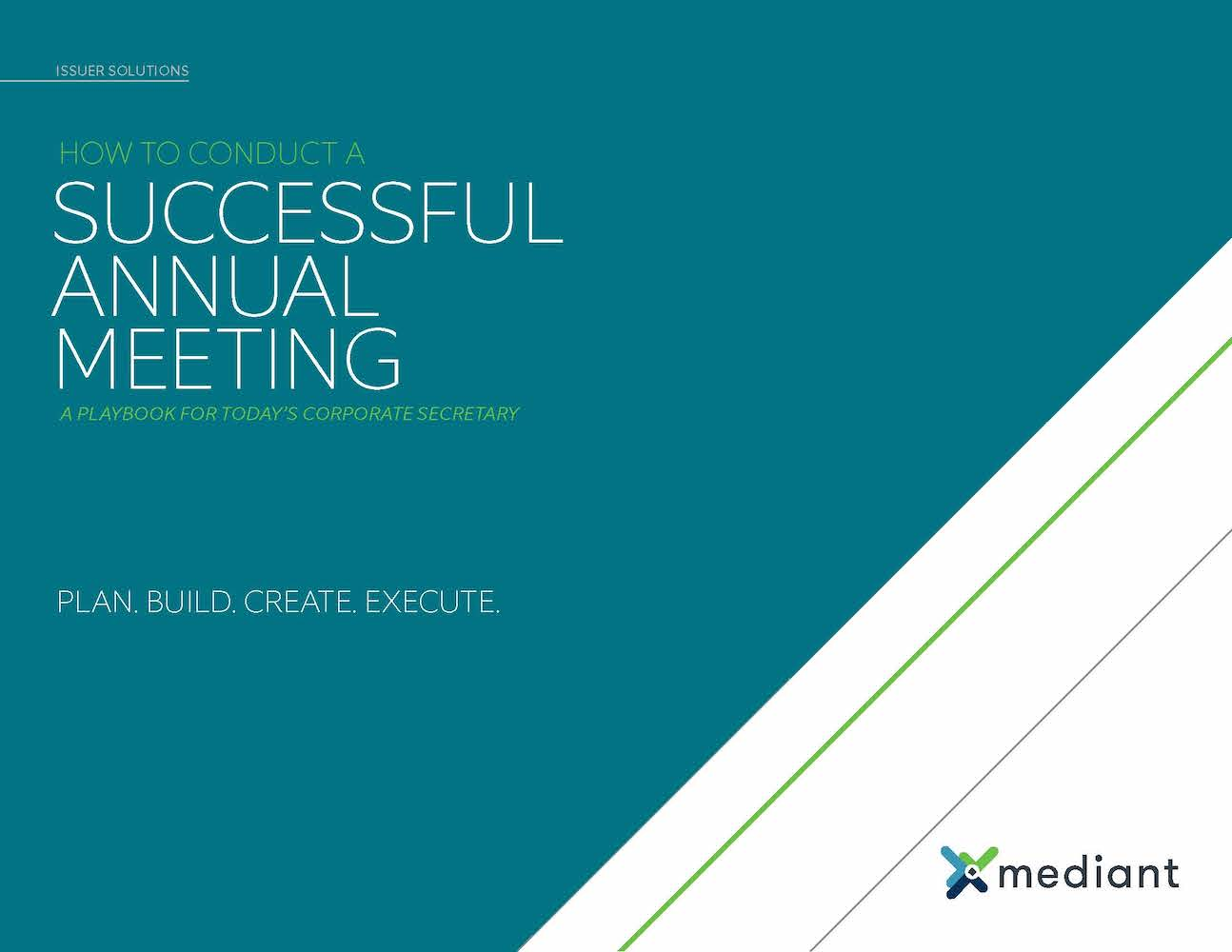 Playbook: How to Conduct a Successful Annual Meeting